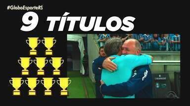 Renato e Felipão se enfrentam nesta terça-feira (20) - Os dois técnicos têm histórico de títulos pelo Grêmio.