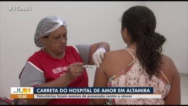 Carreta com atendimento móvel realiza exames médicos em Altamira - Outras 21 carretas percorrem o país realizando procedimentos de prevenção ao câncer