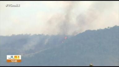 Fogo no Parque Nacional dos Campos Ferruginosos se alastra novamente - O incêndio começou na última sexta-feira