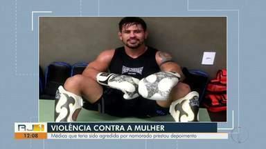 Médica que teria sido agredida por namorado em Campos presta depoimento - Vítima explicou dinâmica da agressão.