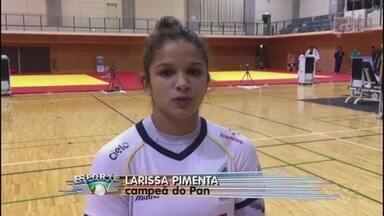 Ouro no Pan, judoca Larissa Pimenta manda recado direto do Japão - A atleta de São Vicente superou perrengues para conquistar a medalha mais cobiçada em Lima.