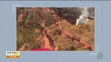 Bombeiros tentar apagar fogo na Serra da Petrovina - Bombeiros tentar apagar fogo na Serra da Petrovina