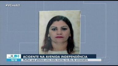 Mulher morre em acidente na av. Independência, em Ananindeua - Acidente ocorreu pela manhã.