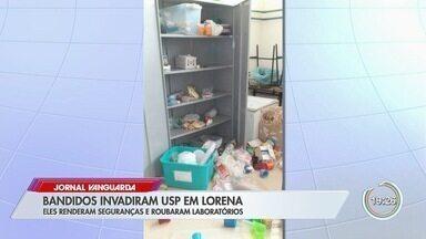 Criminosos rendem seguranças e roubam laboratórios da USP em Lorena - Ação dos suspeitos durou cerca de quatro horas e o grupo fugiu com itens roubados em um caminhão.
