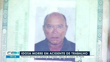 Idoso morre em acidente de trabalho em Juazeiro do Norte - Confira mais notícias em g1.globo.com/ce