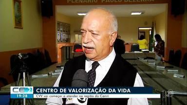 Centro de Valorização da Vida vai começar a atender na região do Cariri - Confira mais notícias em g1.globo.com/ce