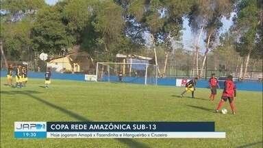 Cruzeiro goleia o Mangueirão e chega a 13 gols marcados na Copa Rede Amazônica Sub-13 - Equipe azulina venceu o Mangueirão por 4 a 0 e Amapá e Fazendinha ficaram no empate em 3 a 3. Jogos aconteceram nesta terça-feira, no campo da AABB.