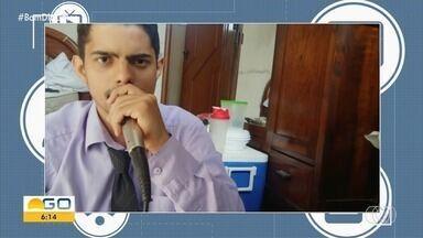Telespectador chama o intervalo do Bom Dia Goiás - Mensagens podem ser enviadas por Whatsapp e redes sociais.
