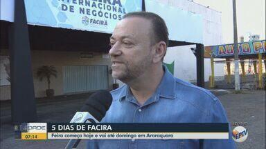 Facira começa nesta quarta-feira em Araraquara - Feira é realizada há 24 anos e expectativa é atrair 220 mil pessoas durante cinco dias de evento.