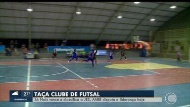 Taça Clube Futsal: Só Nois vence e classifica o JES; AABB disputa liderança - Taça Clube Futsal: Só Nois vence e classifica o JES; AABB disputa liderança