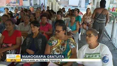 Mutirão da Saúde: projeto realiza exames gratuitos de mamografia em Cajazeiras 5 - Mulheres acima de 35 anos precisam apresentar RG, CPF, cartão do SUS e comprovante de residência.
