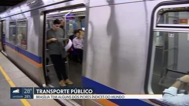 Brasília tem alguns dos piores índices do mundo em termos de transporte público - Uma campanha do Ministério Público quer saber qual a opinião dos usuários.