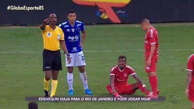 Inter já está no Rio de Janeiro para enfrentar o Flamengo nesta quarta-feira - Edenílson segue como dúvida para o jogo. RBS TV transmite ao vivo, a partir das 21h30.