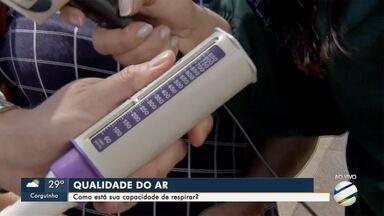 Tempo seco: pneumologista avalia a capacidade de respiração no centro da Capital - Falta de chuva e queimadas atrapalham a qualidade do ar