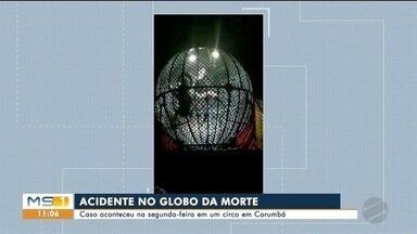 Vídeo mostra acidente no globo da morte em circo - Apesar da violência da batida, os acrobatas não sofreram ferimentos
