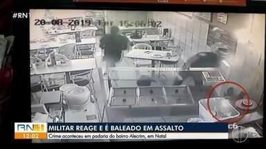 Militar reage e é baleado em assalto no Alecrim - Militar reage e é baleado em assalto no Alecrim
