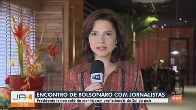 Presidente Bolsonaro recebe jornalistas da região Sul em Brasília - Presidente Bolsonaro recebe jornalistas da região Sul em Brasília