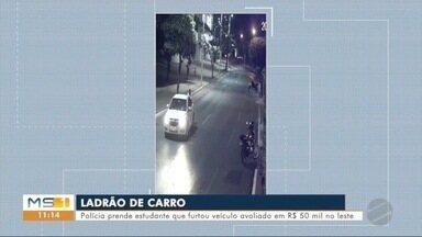 Polícia prende estudante que furtou veículo avaliado em R$ 50 mil - Caso ocorreu em Três Lagoas.