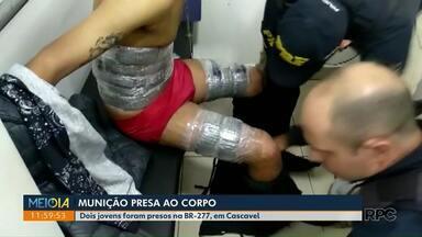 Passageiros de ônibus são presos com munições coladas ao corpo - Prisões foram realizadas pela PRF.
