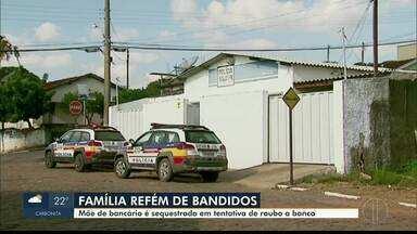 Quadrilha faz mãe e filho reféns no Sul de Minas - Bandidos sequestraram a mãe de um bancário, em São Pedro da União e só liberaram a mulher em Belo Horizonte, há 400 km da cidade.