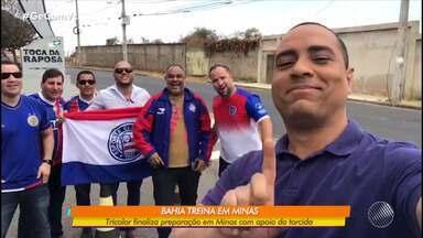 Bahia realiza treino fechado em Minas e segue em busca da primeira vitória fora de casa - Preparação para o jogo contra o Atlético-MG, no sábado (24), contou com a presença e o apoio da torcida tricolor.