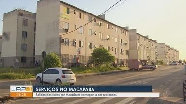 Serviços públicos começam a ser feitos no Macapaba após reclamações da comunidade - Serviços públicos começam a ser feitos no Macapaba após reclamações da comunidade