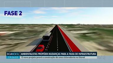 Novo projeto da faixa de infraestrutura prevê construção de ciclorodovia no Litoral - Ambientalistas propõem mudanças para no projeto apresentado pelo Governo.