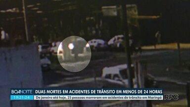 De janeiro até hoje 25 pessoas morreram em acidentes de trânsito em Maringá - Duas mulheres morreram vítimas de acidentes em menos de 24 horas na cidade