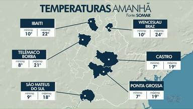 Previsão é de tempo ensolarado e frio para o final de semana em Ponta Grossa - Confira a previsão do tempo.