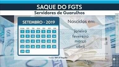 Justiça libera FGTS a servidores de Guarulhos - Cerca de 14 mil funcionários municipais poderão sacar a partir de setembro.