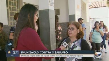 Posto de saúde de Pouso Alegre abre para vacinação contra sarampo neste sábado - Posto de saúde de Pouso Alegre abre para vacinação contra sarampo neste sábado