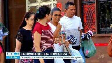 Aumenta o número de pessoas que se endividaram em Fortaleza em agosto - Saiba mais em g1.com.br/ce