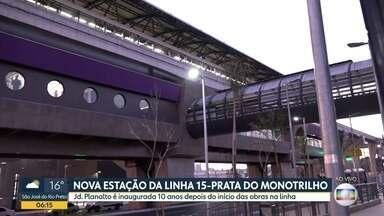 Linha 15-prata do Metrô ganha nova estação na Zona Leste de SP - Estação Jardim Planalto passa a fazer parte da malha metroviária da cidade.