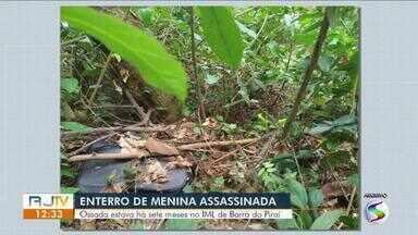 Sepultamento de menina encontrada dentro de mala é marcado após Justiça autorizar - Ossada de Júlia Laport, de 10 anos, foi encontrada há sete meses em um terreno no distrito de Ipiabas, em Barra do Piraí.