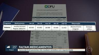 8 mil pacientes têm dificuldades para conseguir medicamentos - Defensoria Pública da União diz que a distribuição não é garantida