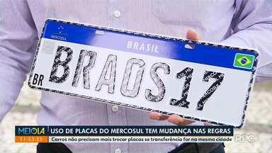 Começam a valer as novas regras para as placas padrão Mercosul - Principal mudança é para transferência de veículos na mesma cidade.