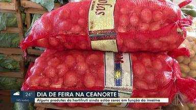 Preços de alguns produtos ainda estão caros na ceanorte em função do inverno - Saiba como está a variação dos preços.