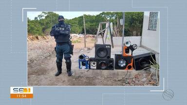 Polícia recupera objetos roubados em loja na Avenida Augusto Franco - Polícia recupera objetos roubados.