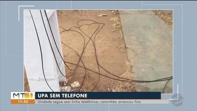UPA está sem telefone após caminhão arrancar fios - UPA está sem telefone após caminhão arrancar fios.
