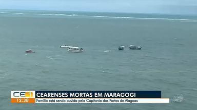 Parentes de cearense mortas em Maragogi são ouvidos na Capitania dos Portos de Alagoas - Saiba mais em g1.com.br/ce