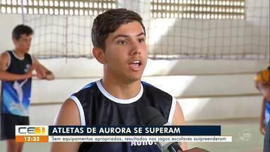 Atletas de Aurora superam expectativas nos jogos escolares do Ceará - Saiba mais em g1.com.br/ce