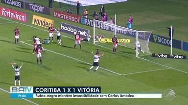 Vitória termina primeiro turno da série B com sequência de 5 jogos sem perder - Na terça-feira (27), time empatou fora de casa com o Coritiba.