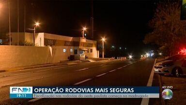 Operação Rodovias Mais Seguras é realizada no Oeste Paulista - Objetivo da ação é reduzir os acidentes de trânsito.