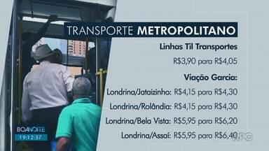Passagens nas linhas metropolitanas e intermunicipais vão ficar mais caras neste domingo - Tarifa entre Londrina e Ibiporã e Londrina e Cambé sobe para R$4,05.