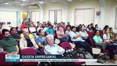 Empresários de Nova Venécia, ES, conhecem empresas mais lembradas da cidade - 70 segmentos foram pesquisados pelo instituto Futura.