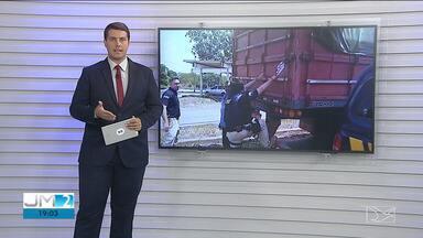 Polícia apreende 35 m³ de carvão ilegal na BR-135, em São Luís - Carvão estava sem a documentação ambiental e fiscal e era transportada em uma carreta.