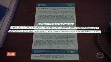 SP confirma primeira morte por sarampo - Essa é a primeira morte causada pela doença nos últimos 22 anos. O último balanço mostra que na cidade de São Paulo, a cobertura vacinal das crianças de 6 a 11 meses, chegou a 62%.