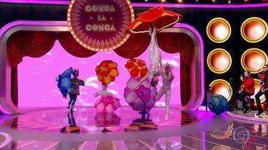 Ana Furtado, Camila Queiroz e Fábio Porchat são os jurados do Gonga La Gonga - Veja as apresentações do Gonga La Gonga deste sábado