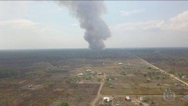 Inpe registra redução nos focos de incêndio na Amazônia após chegada das Forças Armadas - Depois do início da atuação das Forças Armadas, o Inpe começou a registrar redução nos focos de queimadas nos últimos dias de agosto em relação ao mesmo período de 2018.