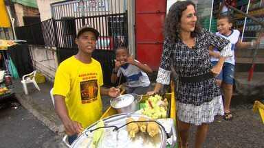 Maria Menezes conhece as figuras mais pitorescas de Sussuarana, como Márcio do Milho - Maria Menezes conhece as figuras mais pitorescas de Sussuarana, como Márcio do Milho